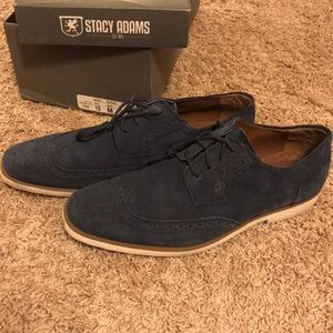Navy dressy/casual Stacy Adams men's shoes